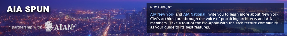AIA Broadcastr: New York, NY: AIA New York and AIA National invite you to learn more about New York City&acirc;&euro;&trade;s architecture through the voice of practicing architects and AIA members. Take a tour of the Big Apple with the architecture community as your guide to its best features.