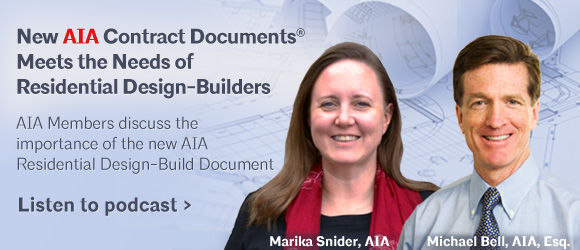 New AIA Document Meets the Needs of Residential Design-Builders