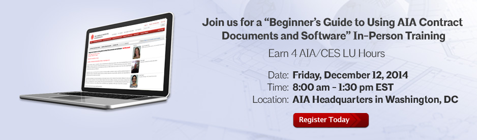 AIA Contract Docs In-Person Training Friday December 12