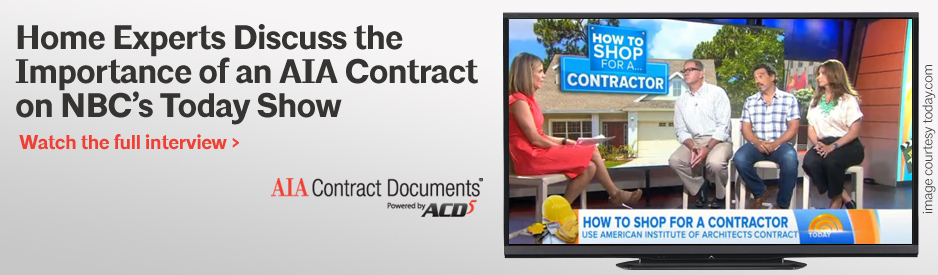 Home Experts Discuss the Importance of an AIA Contract on NBC's Today Show