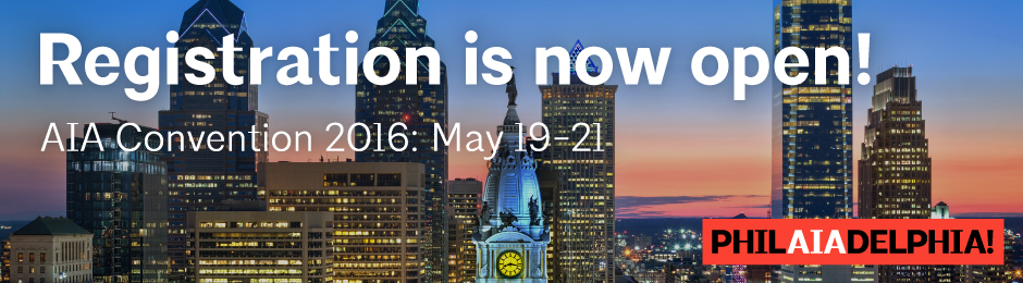 AIA Convention 2016 : Registration is Now Open